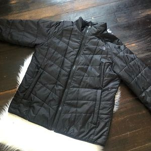 Black North Face Quilted Puffer Jacket sz XL